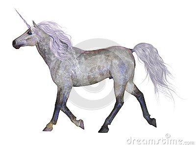 Unicorn on White