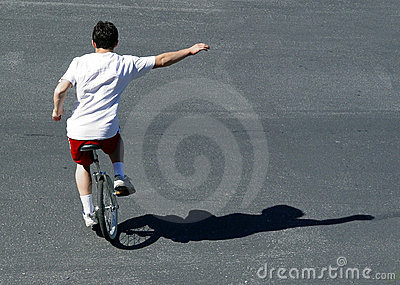 Unicycle мальчика