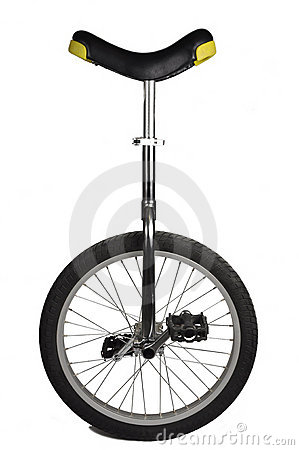 Unicycle isolated on white