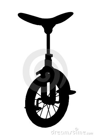 Unicycle Silhouette