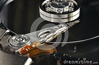 Unidad de disco duro abierta