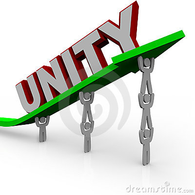 Unidad - las personas trabajan juntas