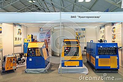 Unidades diesel da soldadura Fotografia Editorial