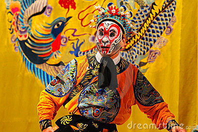 Unidentified actors of the Beijing Opera Troupe Editorial Stock Image
