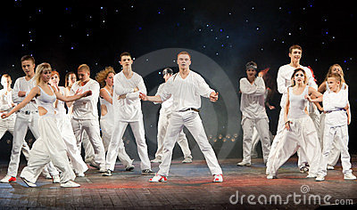 Unidentified children from dancing group Belka Editorial Stock Image