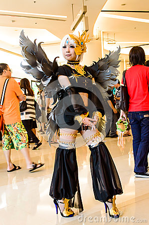 An unidentified Japanese anime cosplay. Editorial Photography