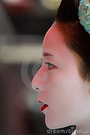 Unidentified Maiko on houjoue event Editorial Photo