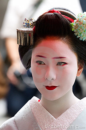 Unidentified Maiko on houjoue event Editorial Image