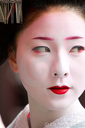 Unidentified Maiko on houjoue event Editorial Photography