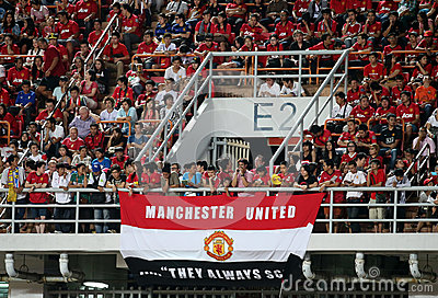 Unidentified Man Utd. supporters Editorial Image