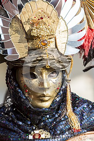 Traditional Venetian carnival mask Editorial Photography