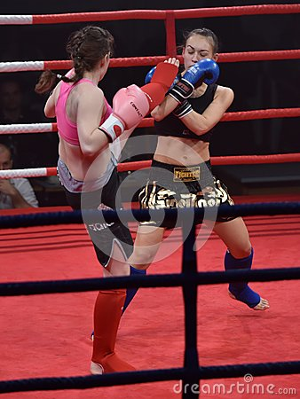Free Unidentified Players In Combat Fight Night Stock Photo - 49070330