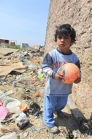 Unidentified Roma kids playing  Editorial Photo