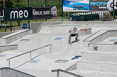 Unidentified skater on ollie Editorial Image