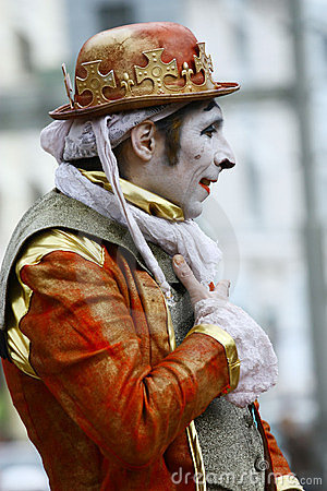 An unidentified street performer mime Editorial Image