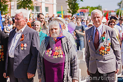 Unidentified veterans during the celebration of Victory Day. GOM Editorial Photography