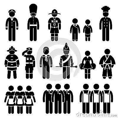 Uniform Outfit Clothing Wear Job Pictogram