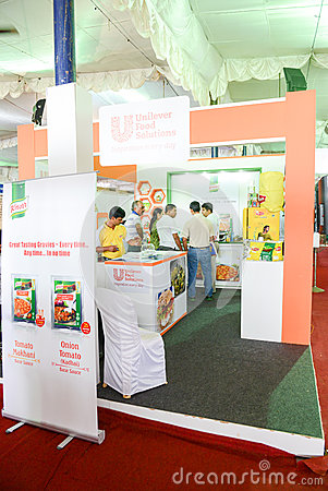 Unilever Food Solutions stall Editorial Stock Image
