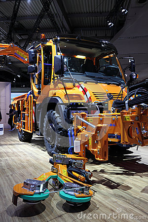 Unimog Road Cleaning Truck Editorial Photography