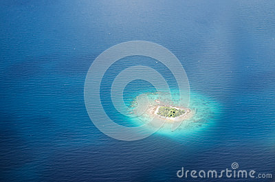 Uninhabited island in the Pacific