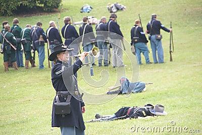 Union bugler playing taps Editorial Stock Photo