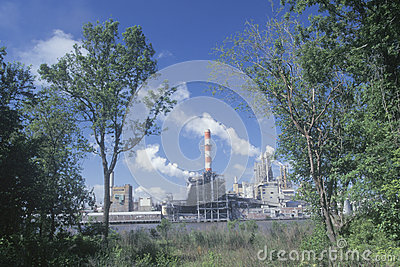 Union Camp Paper Mill Editorial Stock Photo