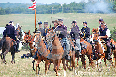 Union cavalry reenactment Editorial Photography