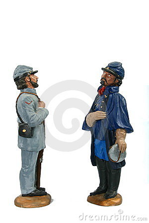 Union and Confederate Soldier of the American Civil War