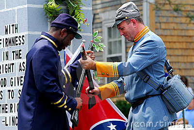 Union and Confederate Soldiers Editorial Stock Photo