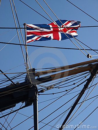 Union flag on HMS Victory