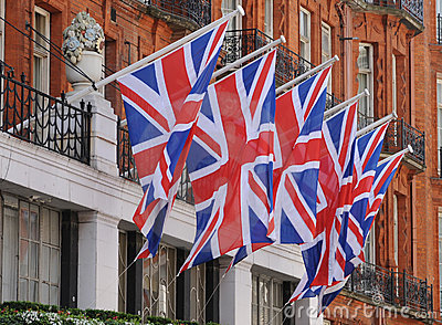 Union Flags.
