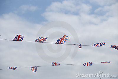 Union Jack Banners Stock Photo