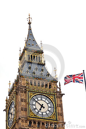 Union Jack And Big Ben Stock Photo - Image: 28718490