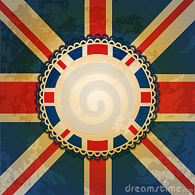 Union jack and border
