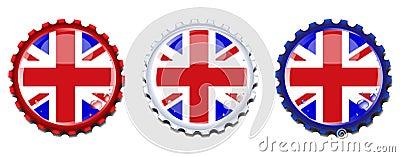 Union Jack bottle caps