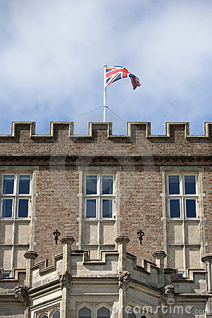 Union Jack on Brownsea Castle