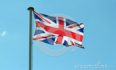 Union jack flag of Great Britain.