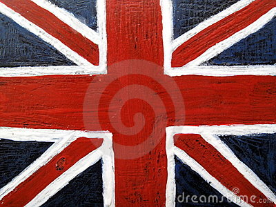 Union Jack flag on metal background