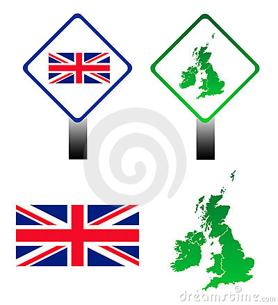 Union Jack flag signs