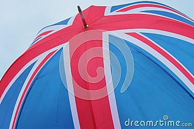 Union Jack flag of united Kingdom umbrella