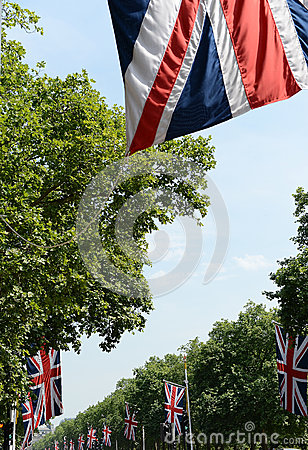 Union Jack flags on Mall