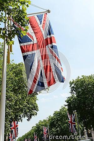 Union Jack flags on Mall