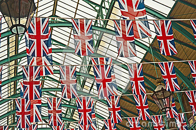 Union Jack flags in Silver Jubilee