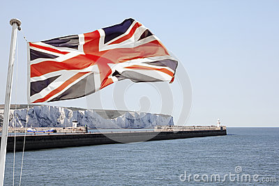 Union Jack Flying over Dover