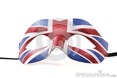 Union jack masquerade mask cutout