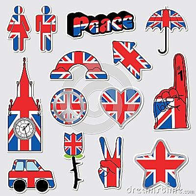 Union jack stickers