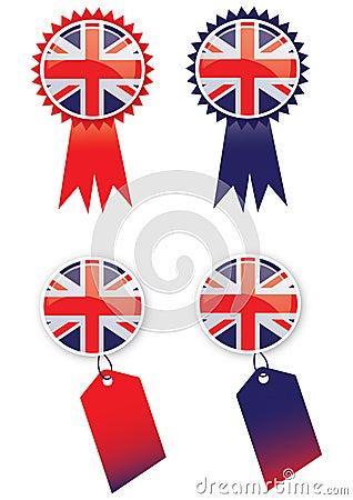 Union Jack Tags