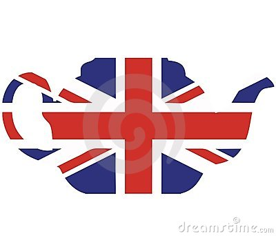 Union jack teapot vector illustration