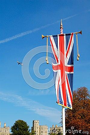 Union jack at Windsor Castle, London