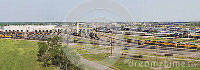 Union Pacific Bailey rail yard Editorial Image